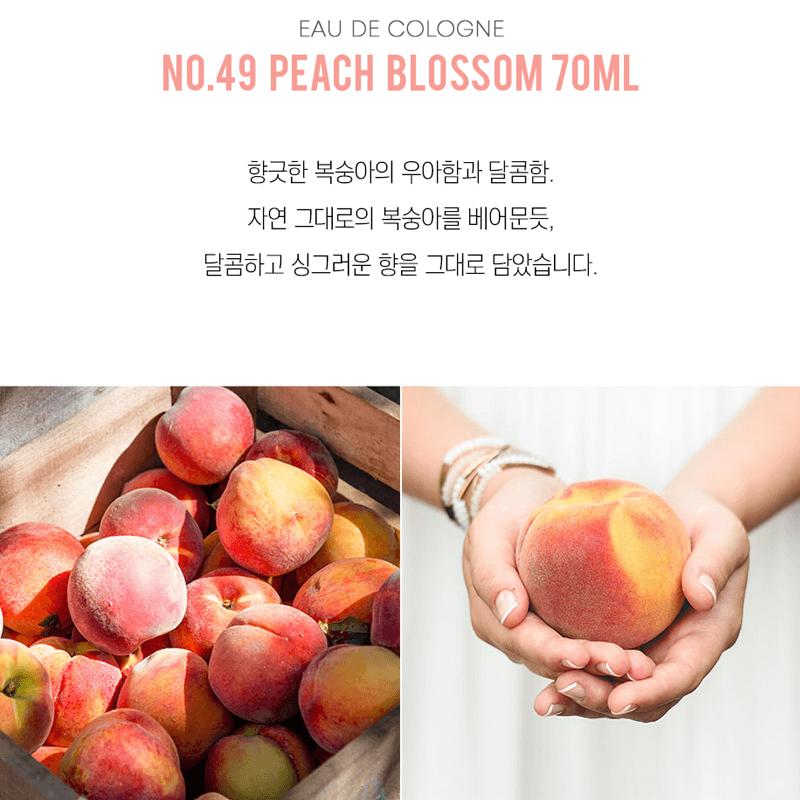 ผลการค้นหารูปภาพสำหรับ W.Dressroom No.49 Peach Blossom 70ml.